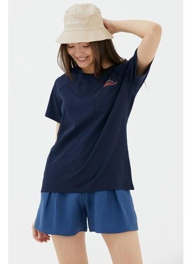 Sementa Cebi Nakış Detaylı Tshirt - Lacivert Lacivert